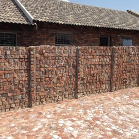 cobble walling and paving