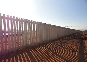 Concrete palisades