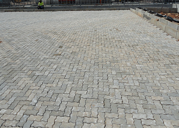 Interlock paving grey